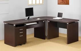 Computer Desks Modern Modern L Shaped Desk Glass Top U2014 All Home Ideas And Decor Modern