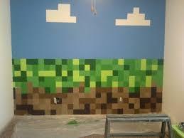 Boys minecraft bedroom wall new place Pinterest