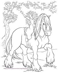 Princess Coloring Pages Disney Brave Coloring Pages