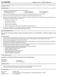 Resume Samples For Mechanical Engineers by Production Resume Samples Production Manager Resume Production