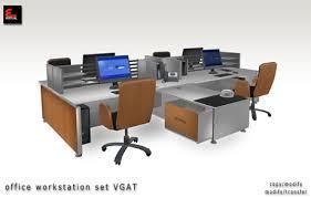 Office Desk Workstation Second Marketplace Modern Office Furniture Workstation