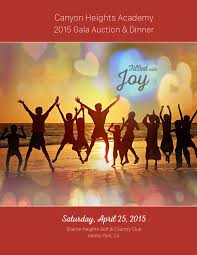 canyon heights academy 2015 auction program by canyon heights