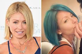 kelly ripa hair kelly ripa s blue hair major makeover on tv hollywood life