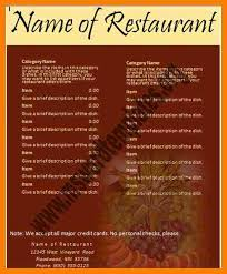 free word menu templates 28 images restaurant menu template