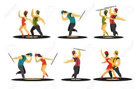 imagenes en movimiento bailando cartel abstracto baila movimiento ilustración vectorial personajes