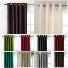 Cream Silk Drapes Faux Silk Curtains U0026 Blinds Ebay