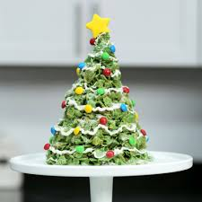 Halloween Cornflake Cakes by Giant Marshmallow U0026 Cornflakes Christmas Tree Treat Recipe Myrecipes