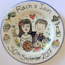 wedding plate painted plates for weddings christenings and births