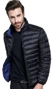 plus size light jacket duck down reversible jacket men winter coat ultra light plus size
