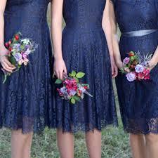 bespoke lace bridesmaid dresses midnight blue by nancy mac