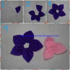 membuat kerajinan bros membuat bros bunga cantik dari kain flanel