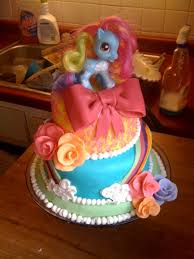 my little pony 3 tiered birthday cake cakecentral com