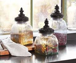 glass kitchen canister set le marche kitchen canisters these ornate ridge textured glass