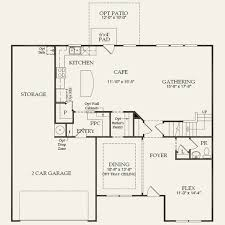 Chapel Floor Plans And Elevations Wingate At Chapel Cove In Charlotte North Carolina Pulte