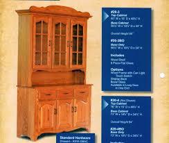 Hutch 3 3 Door Hutches Archives Amish Oak Furniture U0026 Mattress Store