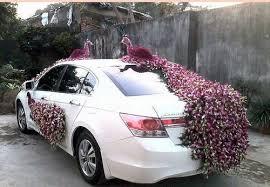car decorations wedding car decoration services wedding car front side decoration