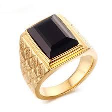 aliexpress buy mens rings black precious stones real aliexpress buy large ring for men black