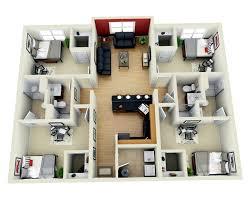 4 bedroom house plans one 4 bedroom house design 3d adhome plans 2 bath 1