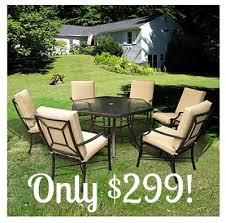laredo 7 piece sling hexagon patio dining set only 299 reg 549