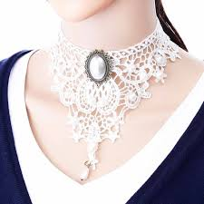 vintage lace necklace images Buy iparam fashion white necklaces for women jpg