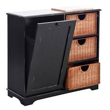 black trash bin storage table storage bins trash bin storage table with baskets sideboard kitchen black sei with regard to size 1600 x