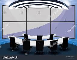 meeting room monitor wall control room stock vector 334757582