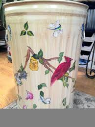 painted plastic garbage cans hand painted wooden trash cans