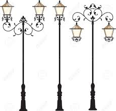 wrought iron street lamp post vector art royalty free cliparts