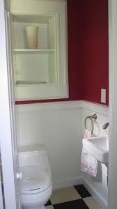 Narrow Powder Room - tiny powder room traditional bathroom new york by brinkman