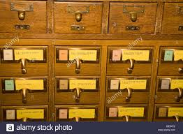 Library Catalog Cabinet Antique Library Card Catalog Drawers Stock Photo Royalty Free