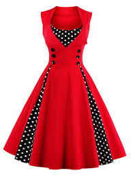 pictures of dresses vintage dresses m button embellished polka dot retro dress