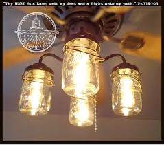 Canning Jar Lights Chandelier Mason Jar Ceiling Fan Light Kit With Vintage Pints Fan Light