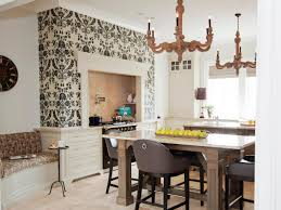 french country kitchen wallpaper designs kitchen with damask