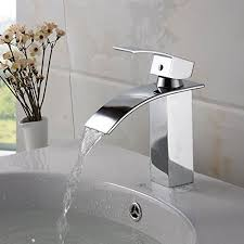 OFF New Simple Waterfall Chrome Brass Bathroom Basin Faucet - Bathroom basin faucets