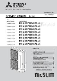 puhz zrp100 250v yka 3 2 service manual och645 mitsubishi