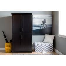 Entryway Armoire by South Shore Morgan Pure Black Armoire 9070971 The Home Depot