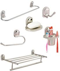 bathroom accessories buy doyours combo of bathroom accessories set with towel rack