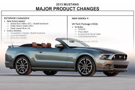 2013 ford mustang order guide mustangs daily
