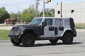 jeep wrangler 4 door top off 2018 jeep wrangler interior spied for first time autoguide com news