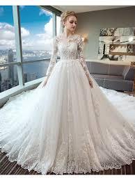 sle sale wedding dresses gorgeous wedding dress 2018 scoop lace applique flowers tulle
