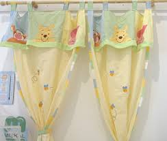 Yellow Nursery Curtains Hiding Pooh 2 Curtains Accessories Window Valances Pinterest