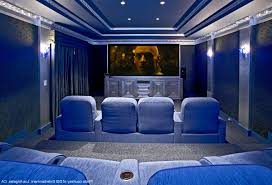 home theatre design los angeles attractive home cinema with blue color scheme home theater
