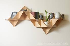 danish modern inspired modular triangular birch wood wall
