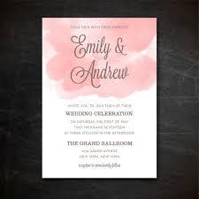 printable watercolor wedding invitation template blush pink