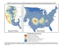 Denver Public Schools Map Usgs Oklahoma Southern Kansas At High Risk For Damaging Quake In