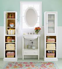 Bathroom Storage Solutions For Small Spaces Savvy Storage Solutions For Small Spaces Pedestal Sink Bathroom