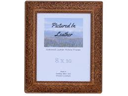 leather picture frames 8x10 leather picture frame embossed and floral leather