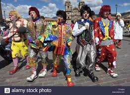 a group of clowns cuzco attending a convention of clowns