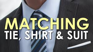 What Color Tie With Light Blue Shirt How To Match A Tie Shirt And Suit The Art Of Manliness Youtube