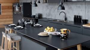 cuisine noir et cuisine noir et noyer photos de design d intérieur et décoration
